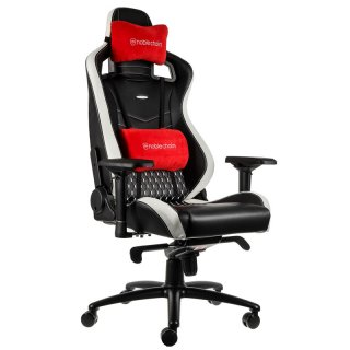 Fotel Dla Gracza Noblechairs EPIC Real Leather Black-White-Red