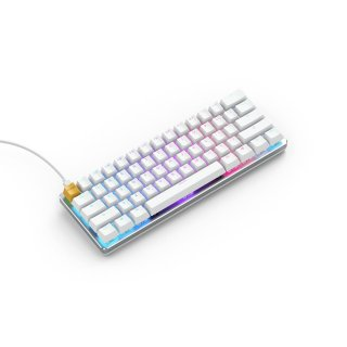Klawiatura Glorious PC Gaming Race GMMK Compact White Ice Edition RGB Gateron Brown